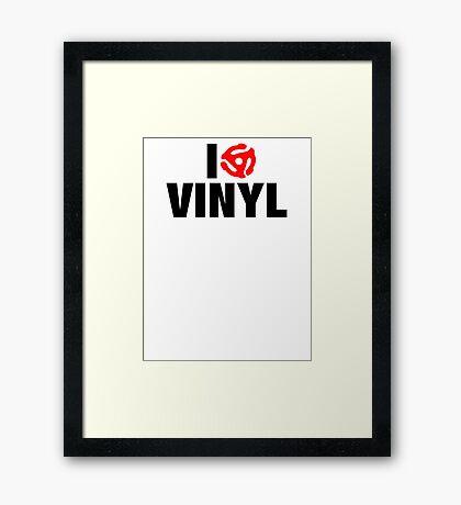 I Spin Vinyl Framed Print