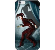 Mysterious jester in abandoned theatre iPhone Case/Skin
