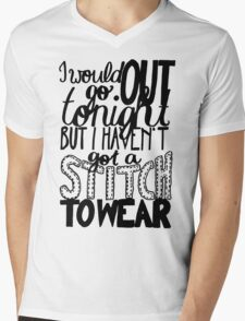 "This Charming Man The Smiths Quote ""I would go out tonight but I haven't got a stitch to wear"" Typography T-Shirt"