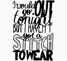 """This Charming Man The Smiths Quote """"I would go out tonight but I haven't got a stitch to wear"""" Typography Unisex T-Shirt"""
