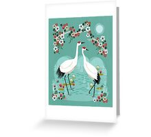 Cranes by Andrea Lauren Greeting Card
