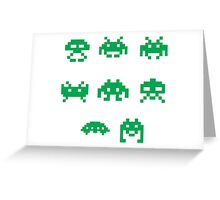 Invaders Greeting Card