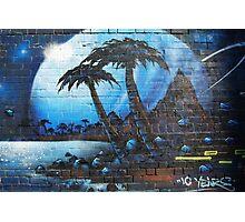 Graffiti Space Tropical Photographic Print