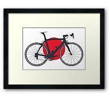 Bike Flag Japan (Big - Highlight) Framed Print