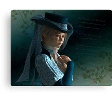 Victorian lady and a love letter Canvas Print