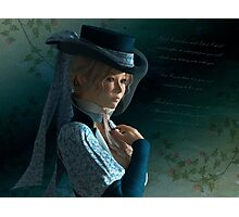 Victorian lady and a love letter Photographic Print