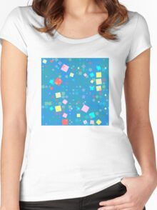 Squares mosaic Women's Fitted Scoop T-Shirt