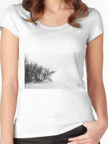 Mount Catria under the snow 07 Women's Fitted Scoop T-Shirt