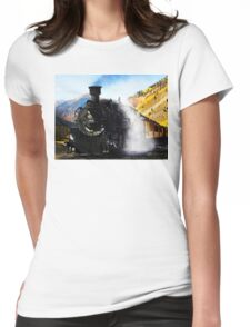 Steam Locomotive Womens Fitted T-Shirt