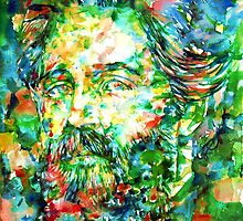 HERMAN MELVILLE watercolor portrait.3 by lautir
