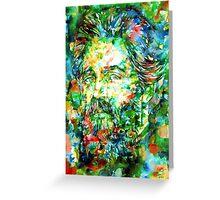 HERMAN MELVILLE watercolor portrait.3 Greeting Card