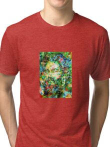 HERMAN MELVILLE watercolor portrait.3 Tri-blend T-Shirt