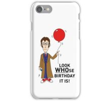 A Tenth Doctor Who themed Birthday Card 2 iPhone Case/Skin