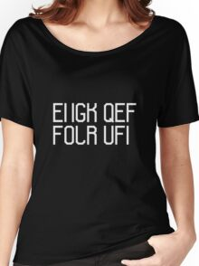 Fuck off the hidden message Women's Relaxed Fit T-Shirt