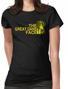 The Great Dane Face Womens Fitted T-Shirt