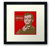 Murray Christmas to you sweater Framed Print