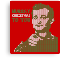 Murray Christmas to you sweater Canvas Print
