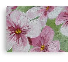 Oil Painted Lily Flowers Canvas Print