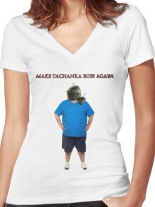 Make Tachanka Buff Again Women's Fitted V-Neck T-Shirt