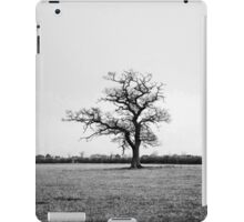 Black and White Lonely Tree iPad Case/Skin