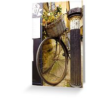 Old Timey Bike Oxford Greeting Card