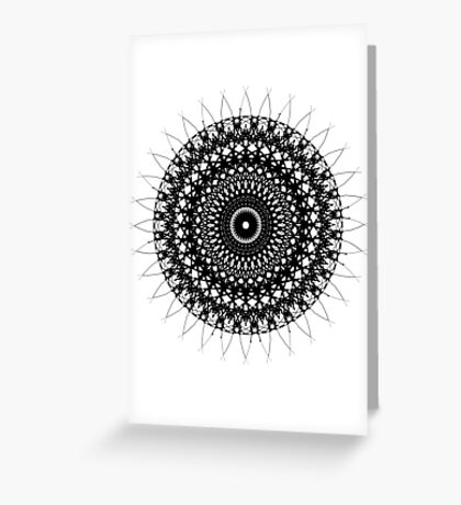 Spirograph Greeting Card