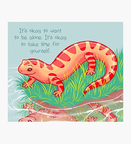 """""""It's Okay to Take Time For Yourself"""" Salamander Photographic Print"""
