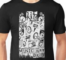 Music Is My Drug (white) - ROOTSKING Unisex T-Shirt