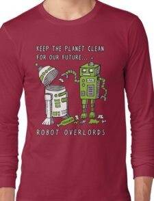Robot Earth Long Sleeve T-Shirt