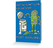 Robot Earth Greeting Card