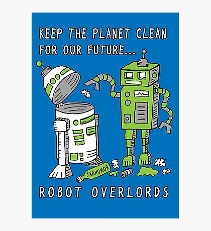 Robot Earth Photographic Print