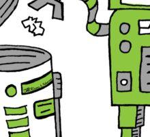 Robot Earth Sticker