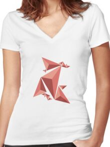Fracture Women's Fitted V-Neck T-Shirt