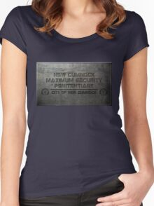 New Cumnock Penitentiary Plaque Women's Fitted Scoop T-Shirt