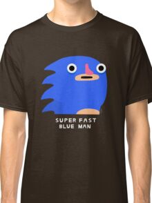 Super fast blue man (white text) Classic T-Shirt