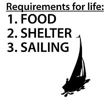 Food Shelter Sailing Photographic Print