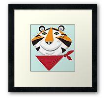 Vintage Tiger Framed Print