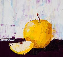 Shimmering Yellow Apple by ebuchmann