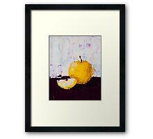 Shimmering Yellow Apple Framed Print