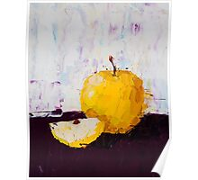 Shimmering Yellow Apple Poster