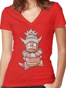 Pixel Slowking!  Women's Fitted V-Neck T-Shirt