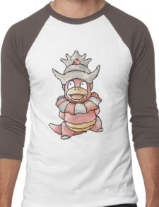 Pixel Slowking!  Men's Baseball ¾ T-Shirt