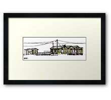 Figueira da Foz - Yellow Beach Bar Framed Print