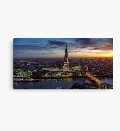 The Shard Sunset Canvas Print