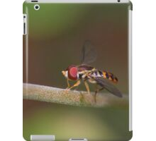 Macro of Hoverfly Warming in the Sun iPad Case/Skin