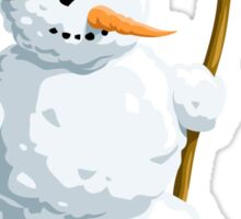 ICE MAN READY FOR CHRISTMAS SNOW  Sticker