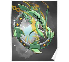 Mega Rayquaza - Stormy BG Poster