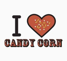 I Heart Candy Corn ( Black Text Clothing & Stickers ) One Piece - Long Sleeve