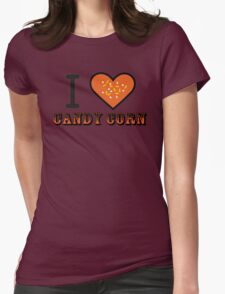 I Heart Candy Corn ( Black Text Clothing & Stickers ) T-Shirt