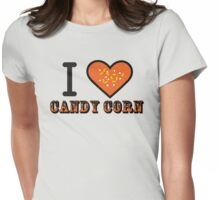 I Heart Candy Corn ( Black Text Clothing & Stickers ) Womens Fitted T-Shirt